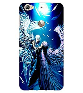 ColourCraft Angels Couple Design Back Case Cover for LeEco Le 1S