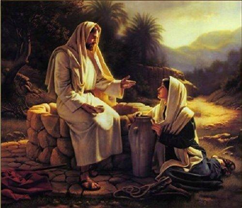 PaintingStudio DIY pintura por numero de Jesus misionero Salvador Jesus Pintura Arte trabaja Imagen sobre lienzo 16x20 pulgadas sin marco