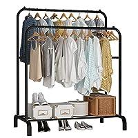 UDEAR Garment Rack Freestanding Hanger Double Rods Multi-functional Bedroom Clothing Rack