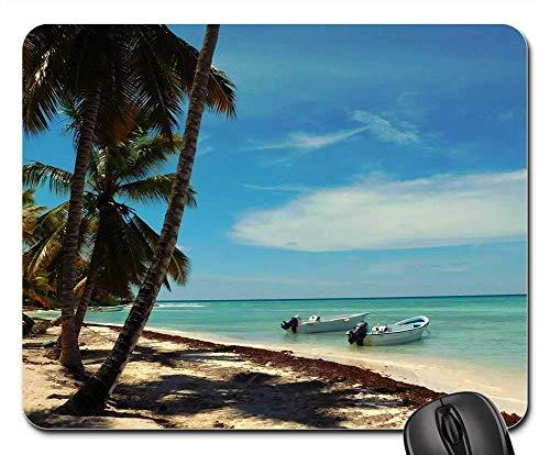 Rectangle Non-Slip Rubber Mouse Pad(9.45x7.8x0.12 inches) Caribbean Saona Island Sea Turquoise Ocean Wa