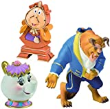 Disney Beauty And The Beast Figurines Or Cake Toppers, Beast, Mrs Potts and Cogsworth Figures