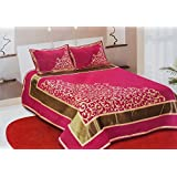 Akshya Bedsheets For Double Bed Cotton(Premium Chenille 1 Double Bedsheet With 2 Pillow Cover, Size -Bedsheet- 230X250 Cms, Pillow -45X70 Cms)