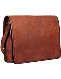 Vintage Handmade 13 Inch Leather Satchel Messenger Bag For Boy/girl/man/woman/unisex