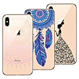 Yokata 3X Coques, Coque iPhone XS Max Transparent Étui Silicone Souple Swag Gel Case...
