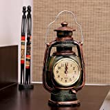 #4: Kurtzy Antique Table Lantern Clock for Living room Bedside and Home Decoration with Battery