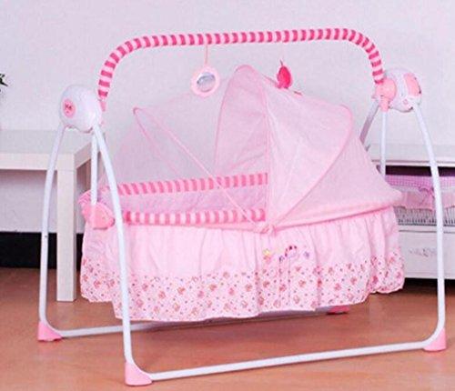 NWYJR Infant Rocker Neugeborene Vibration Comfy Multifunktions-Regulierung Elektrische MusiC Appease Baby-Rocker Bouncer Baby-Rocker , pink (Tier Baby Bouncer)
