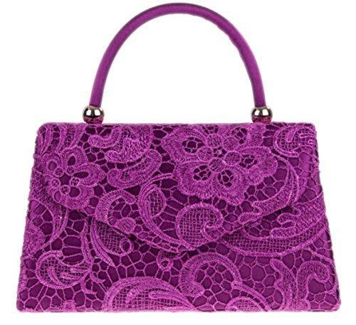 Girly Handbags Designer Dentelle Satin Haut Poignée Pochette Sac À Main Vintage Élégant Fête Soirée Inspiré Femmes Mode