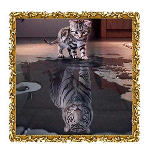 Arts Stile Home And Crafts (DIY - Beste Geschenk Katze und Tiger Craft - Mosaik Home Decor (größe und stil angepasst werden kann) Diamond Stickereien Gemälde)