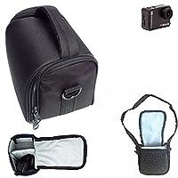 For Braun Champion 4K: Shoulder bag / Carry bag Camera bag Protective sleeve Photo camera case travel case Accessory bag Rain protection, shockproof, anti shock black Dimensions: 13cm (5.1'') x 9.5cm