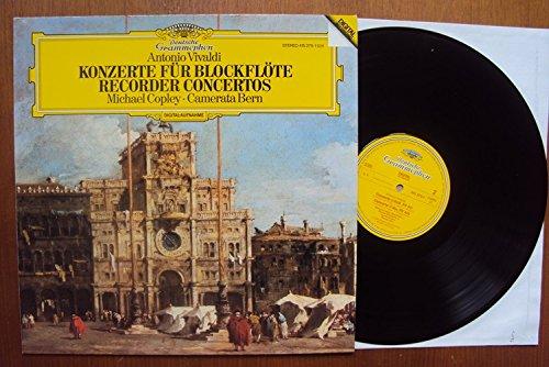 Konzert für Blockflöte, Streicher und Cembalo. Concerto RV 444, 442, 445, 441, 443. Michael Copley, Camerata Bern, Thomas Füri. Digital Stereo - Rv-stereo