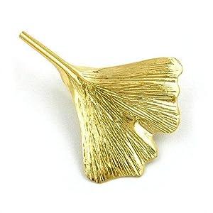 Gallay Brosche 30 mm Ginkgoblatt 9Kt GOLD