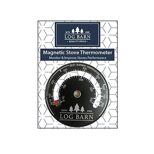 Log-Barn Magnetischer Brenner & Ofenthermometer