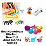 Eco Hometown kitchen needfull accessories combo 18 clip+5 measuring spoon+sealer machine