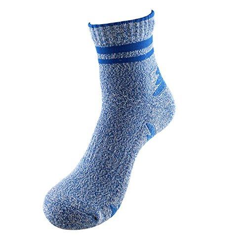 Komfort Low Quarter Sock (JACKSHIBO Herren 5 Paar Komfort Sneaker-Socken Strümpfe unsichtbare Sportsocken Baumwollsocken,Himmelblau,Long)