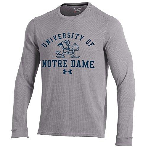 NCAA Herren Unterarmshirt NCAA Waffle L/S Tee, Herren, Long Sleeve Waffle Crew, True Grey Heather, Medium -