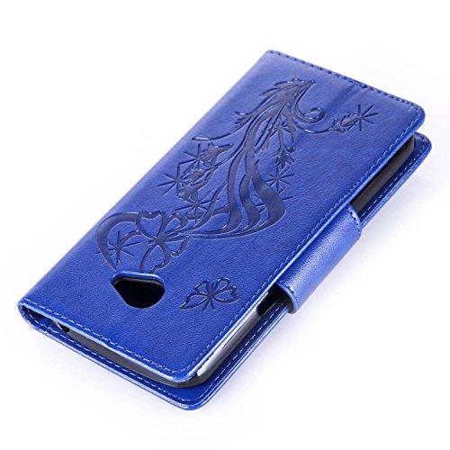 Qiaogle Telefon Case - PU Leder Wallet Schutzhülle Case für Apple iPhone 6 Plus / iPhone 6S Plus (5.5 Zoll) - YX04 / Braun Diamant Löwenzahn YX11 / Blau Diamant Schmetterling Blume