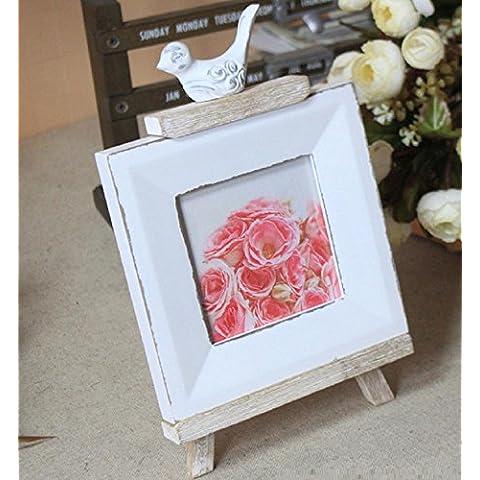 GYN Vantage uccelli in legno massello STAFFA Foto Frame Picture Frame per 4 x 4 pollici foto oggettistica per la casa soggiorno tavolo Accessorie