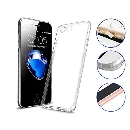 iPhone 6/6s Hülle Transparent - TPU Case Silikon - Ultra Slim - Staubschutz - Kameraschutz - Durchsichtige Handyhülle für Apple i Phone 6 6s Case. Bumper durchsichtig