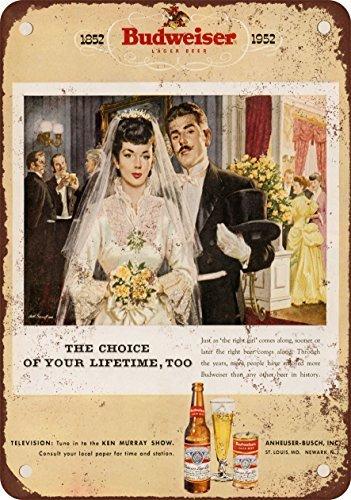 1952-budweiser-birra-e-matrimonio-stile-vintage-riproduzione-in-metallo-tin-sign-203-x-305-cm