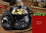 ZHANG MEI Casserole Soup pot Ceramic Casserole Health Soup Soup Home Cooker High Temperature Flame Cooker Casserole Mother