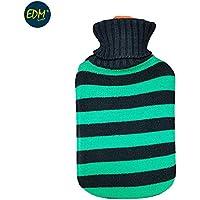 EDM Wärmflasche aus Wolle mit grünen Streifen 2 Liter APROX preisvergleich bei billige-tabletten.eu