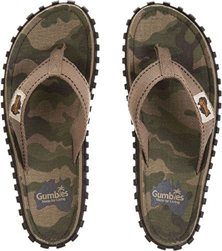 Gumbies , Herren Dusch- & Badeschuhe, Gr.-44 EU, Camouflage
