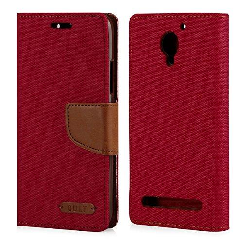 Élégant Portefeuille Housse Étui à rabat Brun Rouge – pour Lenovo C2 Power – Housse Coque Etui Cover Notebook Case avec coque en silicone