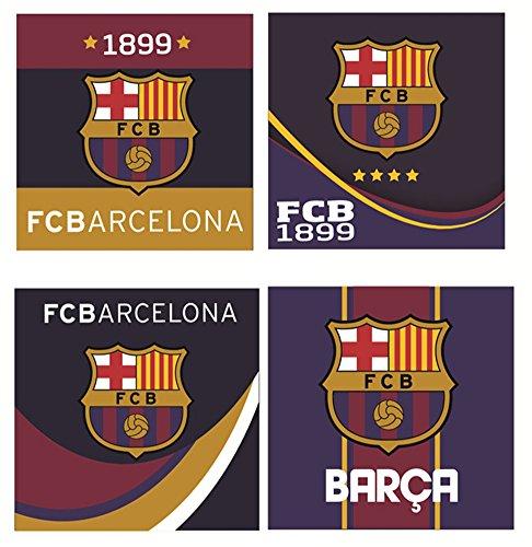 FC Barcelona Juego de 4Lavado Fleck Manopla (79296)