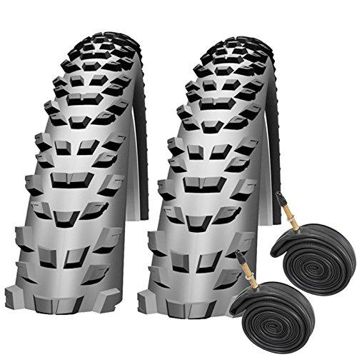 "Impac Trailpac 26\"" x 2.25 Mountain Bike Tyres (Pair) with Presta Inner Tubes"