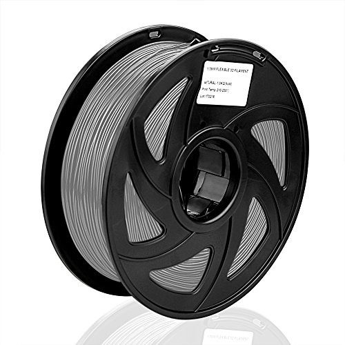 SIENOC SIENOC 1 Packung 3D Drucker PLA 3.00mm Printer Filament - Mit Spule 1kg (Grau)