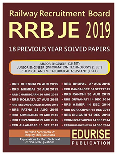 RRB Junior Engineer 2019 18 Previous Year Solved Papers