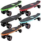 FunTomia Mini-Board Cruiser Skateboard mit 70/65mm Big Wheel Rollen inkl. MACH1® Kugellager (auch mit LED Rollen)