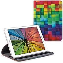 kwmobile Funda para Samsung Galaxy Tab S2 9.7 - Case de 360 grados de cuero sintético para tablet - Smart Cover completo y plegable para tableta en multicolor verde azul