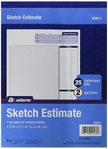 Adams Grid Sketch Book, selbstdurchschreibend, 21,3x 29,1cm, weiß und Kanarienvögel, 2-teilig, 25Sets (dc8511) Adams Grid