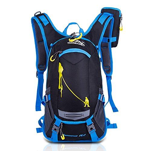 Activer unisex Cool Fahrradrücksack Trekking Ski Rucksäcke Backpack mit Regenabdeckung 18L (Blau)