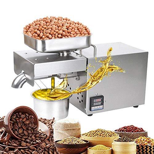 Elektrische Ölmühle Maschine, TOPQSC Ölpresse Presse Olivenölpresse Haushälterin Elektrische Ölpresse für CoCo Lin Nuts Erdnuss Edelstahl 600W