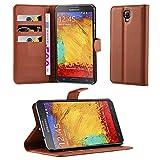 Samsung Galaxy NOTE 3 NEO Hülle in BRAUN von Cadorabo -