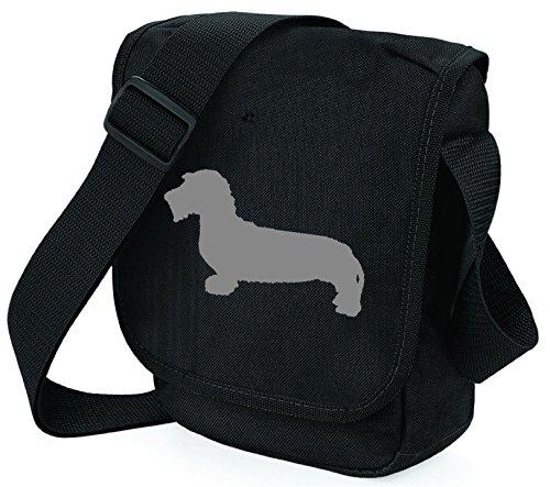 Bag Pixie , Damen Schultertasche Grey Hound Black Bag