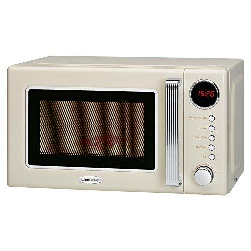 Clatronic MWG 790 2in1 Mikrowelle Retro-Design, 700 W Mikrowellenleistung, 1000 W Grillleistung, 20 L Garraum, Timerfunktion, Kindersicherung