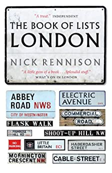 The Book Of Lists London by [Rennison, Nick]