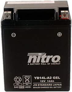 Batterie 12v 14ah Yb14l A2 Gel Nitro Gsx 1100 F Gv72c 89 96 Auto