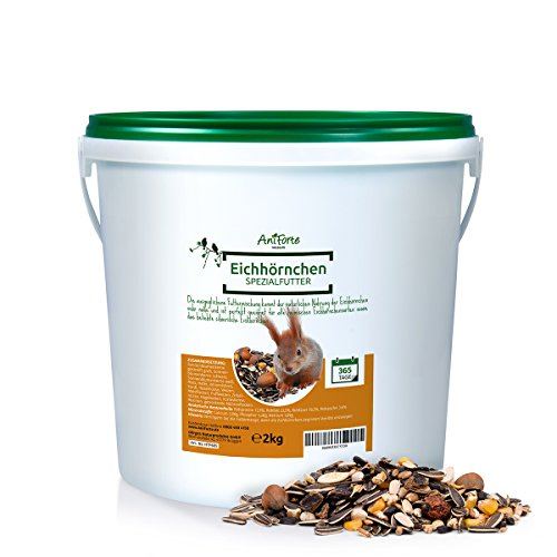 Galleria fotografica Aniforte Garden Premium Mangime per Scoiattolo 2kg per scoiattoli e scoiattoli di tenendo. Fodera Naturale per scoiattolo 2000g