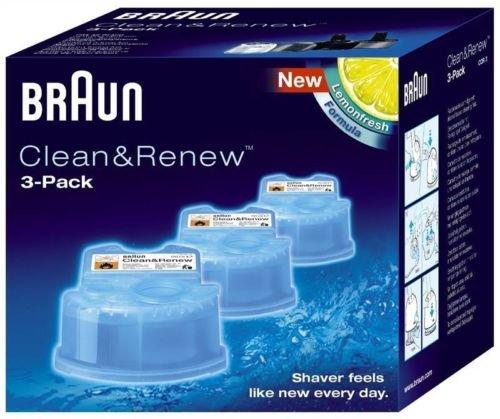 Reinigungskartuschen für Braun CCR3 Clean & Renew Rasierer, 3 Stück