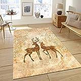 Modernes Design teppiche, Weich Gemütlich Waschbar Absorbierenden Anti-rutsch Geometrische Abstract Rechteckige Schlafzimmer Wohnzimmer Home Teppich-B 80x120cm(31x47inch)