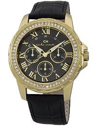 Carlo Monti Damen-Armbanduhr Catania Analog Quarz Leder CM600-222