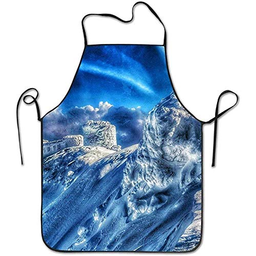 Snow Carpathian National Nature Park Funny Cooking Apron for Men - BBQ Grill Kitchen Chef Barbecue Gifts, One Size Fits Most ()