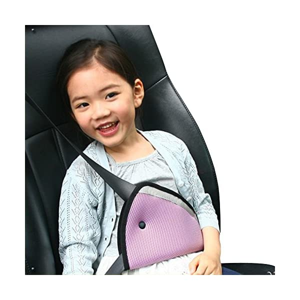 Everpert Car Safe Fit Seat Belt Adjuster Car Safety Belt Adjust Device for Kids Everpert Repositions seat belt for a secure, comfortable fit Helps keep belt away from neck and face Crash tested for safety 3