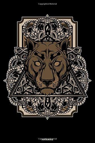 Notebook: Panther Steampunk Art Journal Cyber Punk Composition Book Cougar Retro Vintage Future Gift -