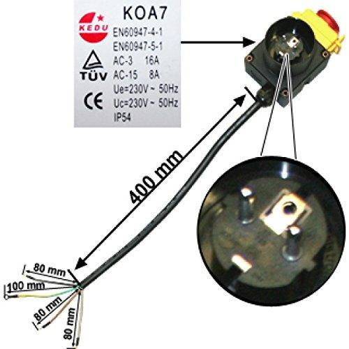ATIKA Ersatzteil - Ein-/Ausschalter für Brennholzspalter ASP 5,5 N *NEU*