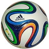 adidas Fußball Brazuca Junior, White/Night Blue/Multicolor, 5, F82346